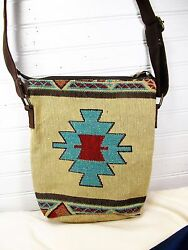 Hand Bag Crossbody Style Tapestry Jacquard Carrizo Pattern $17.95