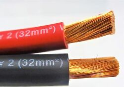 120and039 Ft Excelene 2 Awg Gauge Welding And Battery Cable 60and039 Red And 60and039 Black Usa New