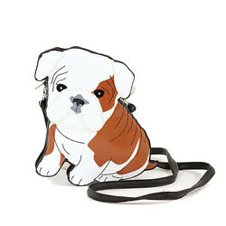 Adorable America Bulldog Puppy Dog Shoulder Cross Body Purse Handbag $29.99