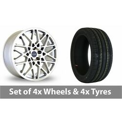 4 X 18 Dare Lg2 Silver Polished Alloy Wheel Rims And Tyres - 245/45/18