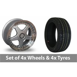 4 X 18 Dare F5 Silver Alloy Wheel Rims And Tyres - 225/55/18