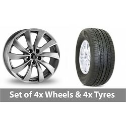 4 X 19 Wolfrace Lugano Shadow Chrome Alloy Wheel Rims And Tyres - 255/50/19