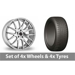 4 X 20 Wolfrace Munich Silver Polished Alloy Wheel Rims And Tyres - 275/45/20