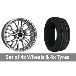 4 X 19 Wolfrace Perfektion Silver Alloy Wheel Rims And Tyres - 245/45/19