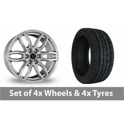 4 X 20 Wolfrace Temper 6 Silver Alloy Wheel Rims And Tyres - 295/40/20