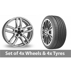 4 X 20 Wolfrace Temper Silver Alloy Wheel Rims And Tyres - 275/35/20