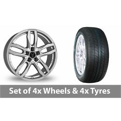 4 X 20 Wolfrace Temper Silver Alloy Wheel Rims And Tyres - 265/50/20