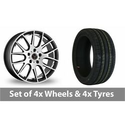 4 X 18 Wolfrace Munich Satin Black Alloy Wheel Rims And Tyres - 215/35/18