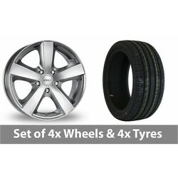 4 X 17 Dezent High Gloss Alloy Wheel Rims And Tyres - 215/55/17