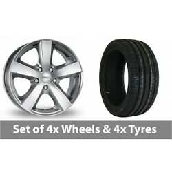 4 X 17 Dezent High Gloss Alloy Wheel Rims And Tyres - 215/50/17