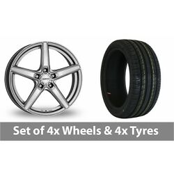 4 X 18 Dezent Rn High Gloss Alloy Wheel Rims And Tyres - 245/45/18