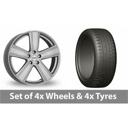 4 X 20 Dezent Th Silver Alloy Wheel Rims And Tyres - 275/45/20