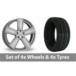 4 X 18 Dezent Th Silver Alloy Wheel Rims And Tyres - 215/55/18