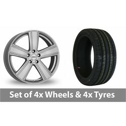 4 X 19 Dezent Th Silver Alloy Wheel Rims And Tyres - 225/40/19