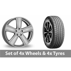 4 X 19 Dezent Th Silver Alloy Wheel Rims And Tyres - 235/45/19