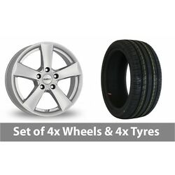 4 X 18 Dezent Tx Silver Alloy Wheel Rims And Tyres - 255/45/18