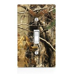 Real Tree Camo Light Switch Cover Outlet Cover Night Light Cabinet Knob Gift