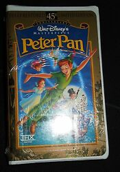 Nip Disney Vhs Masterpiece Collection Peter Pan 45th Anniversary Limited Edition