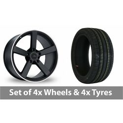 4 X 18 Fox Racing Ms003 Alloy Wheel Rims And Tyres - 225/40/18