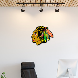 New Nhl Chicago Blackhawks 3d Fan Foam Logo Holding Wall Sign Made In Usa