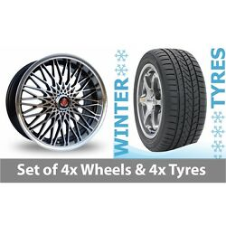 4 X 17 Axe Ex 3hree Black Polished Alloy Wheel Rims And Tyres - 215/65/17
