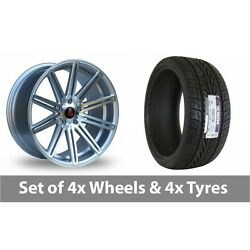 4 X 18 Axe Ex15 Silver Polished Alloy Wheel Rims And Tyres - 235/65/18