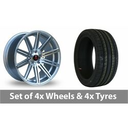4 X 19 Axe Ex15 Silver Polished Alloy Wheel Rims And Tyres - 245/45/19