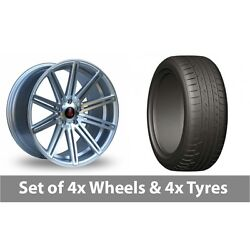 4 X 20 Axe Ex15 Silver Polished Alloy Wheel Rims And Tyres - 275/45/20