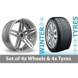 4 X 20 Axe Ex20 Silver Polished Alloy Wheel Rims And Tyres - 265/35/20