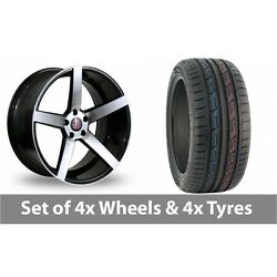 4 X 19 Axe Ex18 Black Polished Alloy Wheel Rims And Tyres - 235/50/19