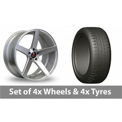 4 X 20 Axe Ex18 Silver Polished Alloy Wheel Rims And Tyres - 275/45/20