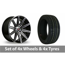 4 X 19 Axe Ex15 Black Polished Alloy Wheel Rims And Tyres - 245/45/19