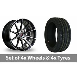 4 X 19 Axe Ex16 Polished Alloy Wheel Rims And Tyres - 225/35/19