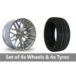 4 X 20 Axe Ex30 Silver Polished Alloy Wheel Rims And Tyres - 255/30/20