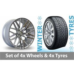 4 X 20 Axe Ex30 Silver Polished Alloy Wheel Rims And Tyres - 265/35/20
