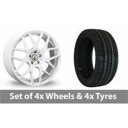 4 X 18 Cades Bern White Alloy Wheel Rims And Tyres - 225/40/18