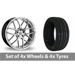 4 X 20 Cades Bern Accent Silver Alloy Wheel Rims And Tyres - 255/40/20