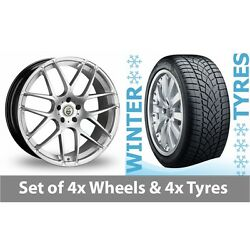 4 X 20 Cades Bern Accent Silver Alloy Wheel Rims And Tyres - 265/35/20