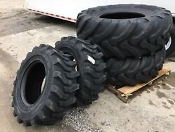 New Camso 532 19.5l-24 And 2 12-16.5 Backhoe Tires R4 - 19.5lx24 - 4 Tire Combo
