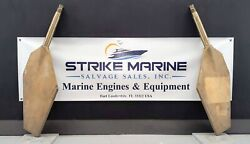 Bronze Marine Rudder With Shaft OD: 55MM Overall Length: 1074MM