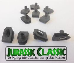 46-80 Chevy Amc 10pk 8-32 Extruded Fender U-nuts Clips Hood Body Panel Console