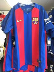 2016-17 Fc Barcelona Soccer Youth Jersey Short Sleeves Large Premier League