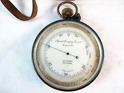 Aneroid Compensator Barometer Improved Aneroid Compensated Sold By N H Seward