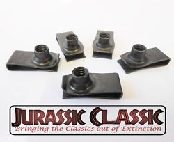 46-80 Gm 5pk 5/16-18 Extruded Fender U-nuts Clips Hood Body Panel Trunk Console