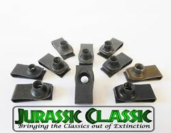 1946-1980 Ford 10pk 5/16-18 Extruded Fender U-nuts Clips Hood Body Panel Trunk