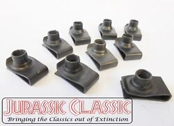 1946-80 Chevy Amc 10x 5/16-18 Extruded Fender U-nuts Clips Hood Body Trunk Panel