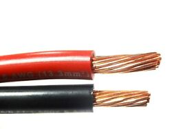 150and039 Ft Mtw 6 Awg Gauge 75and039 Black And 75and039 Red Stranded Copper Sgt Primary Wire
