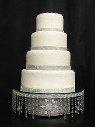 Crystal Snowflake Cake Stand Diamante Cake Stand For A Winter Wedding