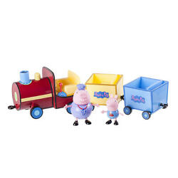 Peppa Pig Grandpa Pigand039s Toy 12 Push Along Train W/ 2 Cars And George Figurine