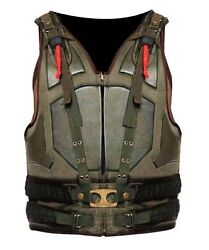 Menand039s Celebrity Looks The Dark Knight Rises Menand039s Synthetic Leather Bane Vest.